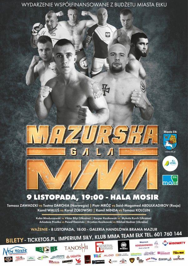 PLAKAT MAZURSKA GALA MMA